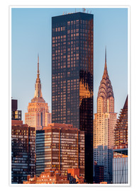 Premiumposter Empire State und Chrysler Building