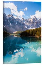 Canvastavla  Lake Moraine in the Canadian Rockies - Matteo Colombo