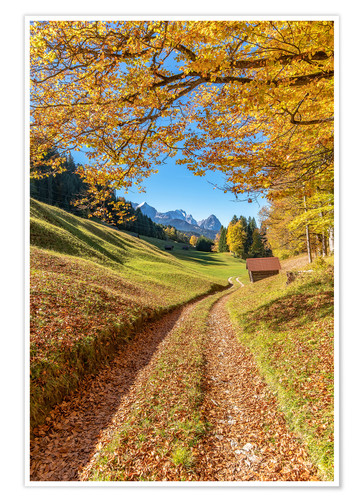 Premiumposter Golden autumn in Bavaria