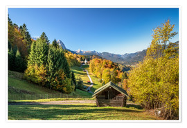 Premiumposter Autumn in Upper Bavaria