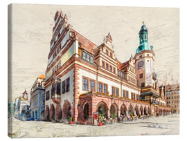 Canvastavla  Leipzig Old Town Hall - Peter Roder