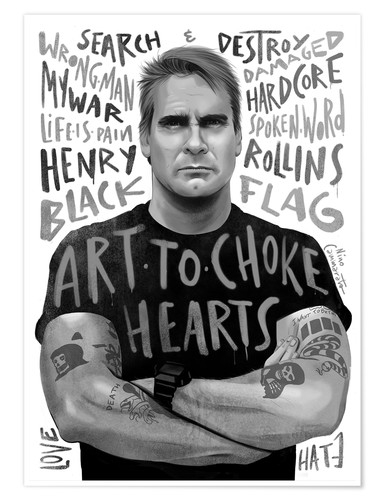 Premiumposter henry rollins