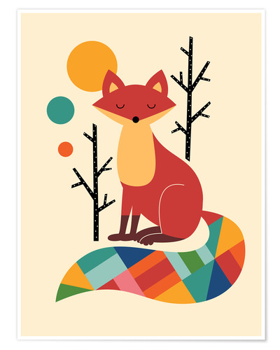 Premiumposter Rainbow Fox