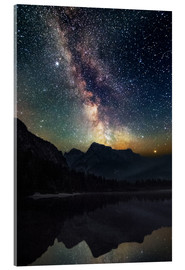 Akrylglastavla  Milky Way over the mountains - Matthias Köstler