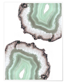 Premiumposter Light water agate