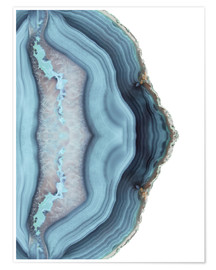 Premiumposter Light blue agate