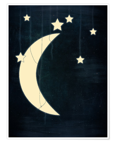 Premiumposter Moon and stars
