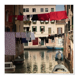 Premiumposter Washing lines in Venice, Italy