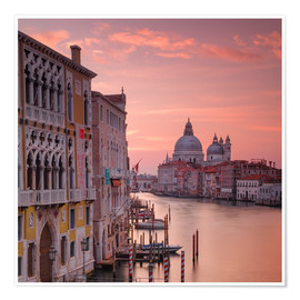 Premiumposter Venice and the grand Canal at sunrise