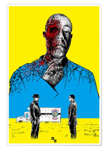 Premiumposter Breaking Bad Gus Fring death whit blood