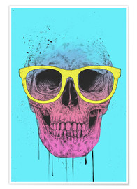 Premiumposter Pop art skull with glasses