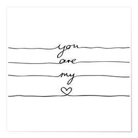 Premiumposter  You are my heart - Mareike Böhmer