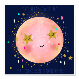 Poster  The moon told me - Elisandra Sevenstar