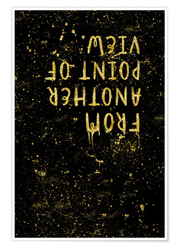 Premiumposter TEXT ART GOLD From another point of view