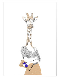 Premiumposter Fashion Giraffe