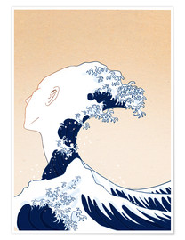Premiumposter Tribute to Hokusai