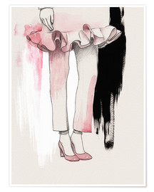 Premiumposter Fashion illustration Pink shoes