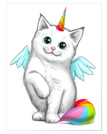 Premiumposter  Cat unicorn - Nikita Korenkov