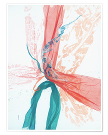 Premiumposter Peach and Teal abstract