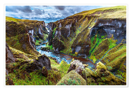Premiumposter Incredible volcanic Canyon on Iceland
