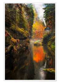 Premiumposter Kamnitz Gorge in the Saxon Switzerland