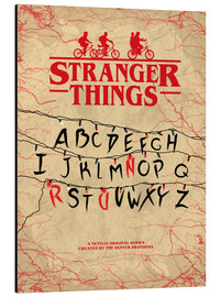 Aluminiumtavla  Stranger Things - Minimal TV-Show Fanart alternative - HDMI2K