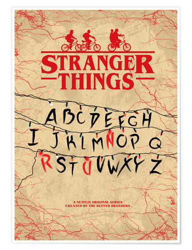 Premiumposter Stranger Things - Minimal TV-Show Fanart alternative