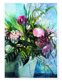 Premiumposter Bouquet with peony