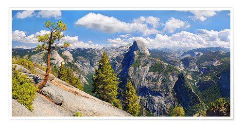 Premiumposter Glacier Point Yosemite Valley California USA