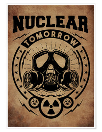 Premiumposter nuclear tomorrow vintage