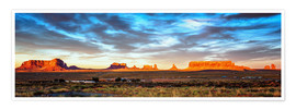 Premiumposter Monument Valley panorama