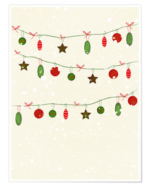 Premiumposter happy holidays baubles