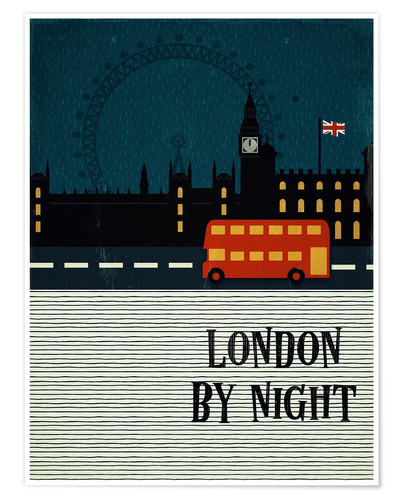 Premiumposter London by Night