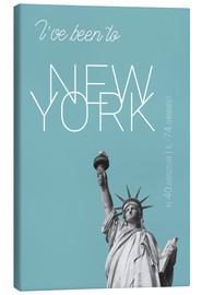 Canvastavla  Popart New York Statue of Liberty I have been to Color: Light blue - campus graphics