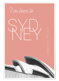 Premiumposter Popart Sydney Opera I have been to color: blooming dahlia