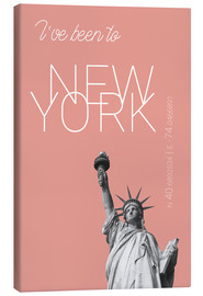 Canvastavla  Popart New York Statue of Liberty I have been to Color: blooming dahlia - campus graphics