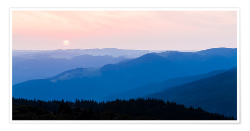 Premiumposter Sunrise at Schauinsland in the Black Forest