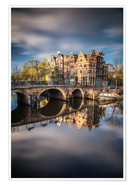 Premiumposter Amsterdam during morning light