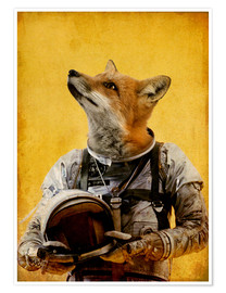 Premiumposter  Space fox - Durro Art