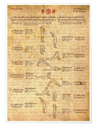 Premiumposter Sun Salutation - Yoga