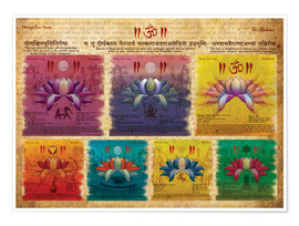 Premiumposter The Chakras Yoga Print