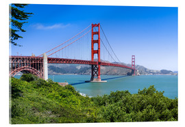 Akrylglastavla  Golden Gate Bridge in San Francisco, California, USA - Jan Christopher Becke
