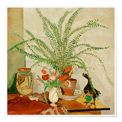 Premiumposter Still life with leaf plant