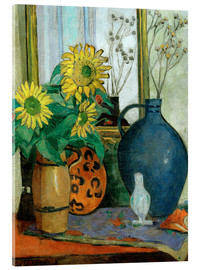 Akrylglastavla  Sunflowers with Matisse shell - Oskar Moll