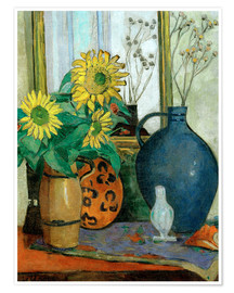Premiumposter Sunflowers with Matisse shell