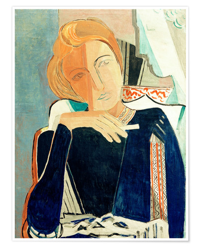 Premiumposter Inge II, in dark blue with cigarette