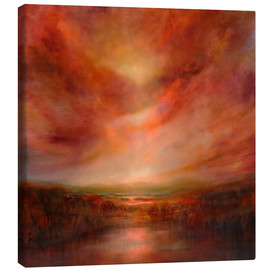 Canvastavla  evening glow - Annette Schmucker