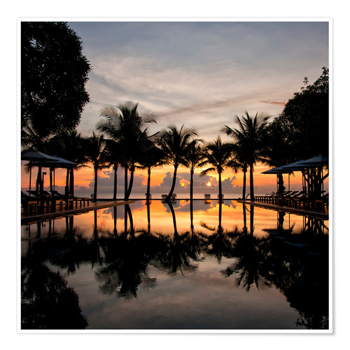 Premiumposter Luxury infinity pool on the Gulf of Thailand