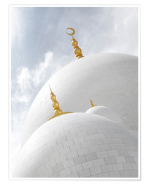 Premiumposter  white cupolas of sheikh zayed mosque