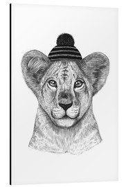 Aluminiumtavla  Lion child with cap - Valeriya Korenkova
